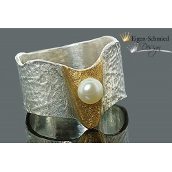 "Ring with pearl ""Melody"""