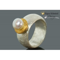 "Ring with pearl ""White pearl"""